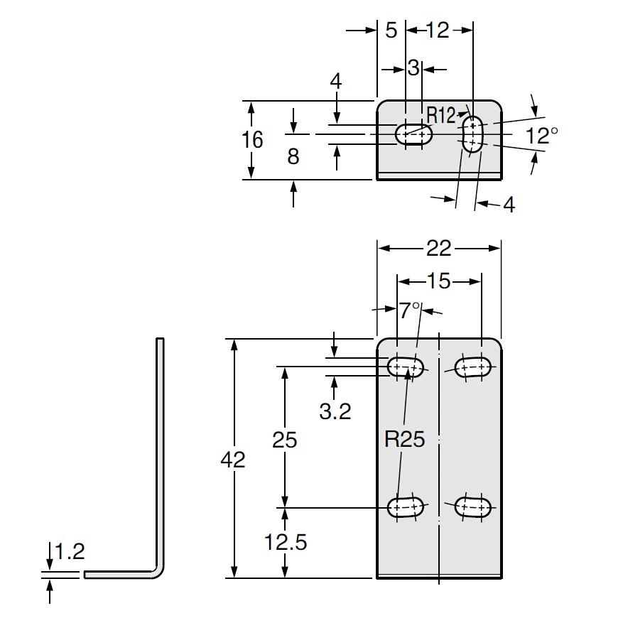 红外线光电传感器 光电开关 安装支架 cad